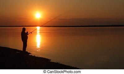 Sundown on river.