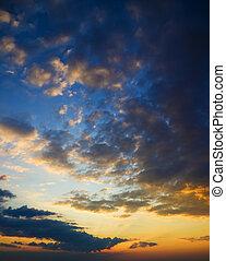 sundown., pendant, vagues