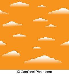sundown sky with clouds seamless