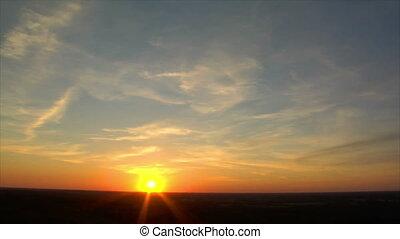 sundown super wide time lapse