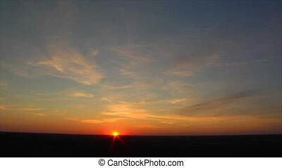 sundown wide slow time lapse