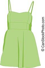 Sundress green realistic vector illustration isolated