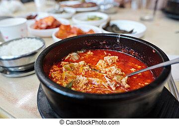 Sundubu jjigae - Korean spicy soup