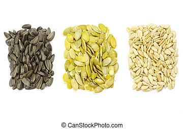sunflower and pumpkin seeds