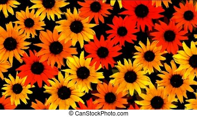 sunflower as wedding background,disco neon flower pattern.