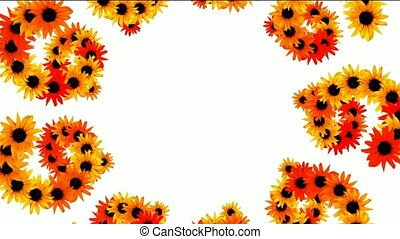 sunflower as wedding background