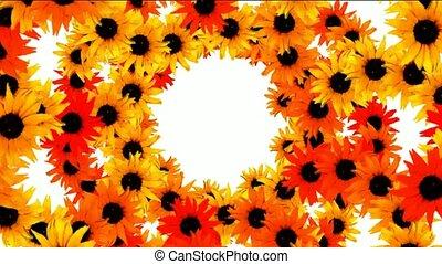 sunflower as wedding background,disco neon flower pattern.