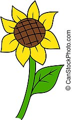 Sunflower icon.