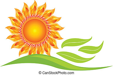 Sunflower icon design logo