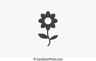 sunflower icon. isolated on white background.