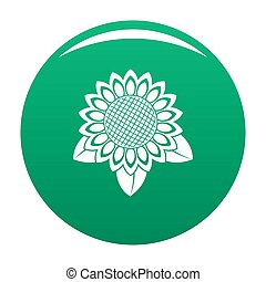 Sunflower leaf icon green