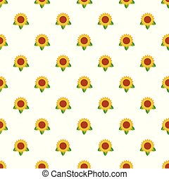 Sunflower leaf pattern seamless vector