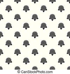 Sunflower leaf pattern seamless vector