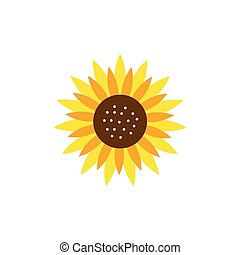 Sunflower logo icon vector
