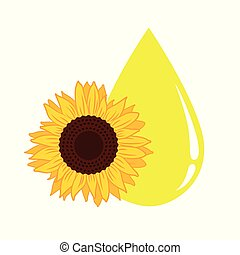Sunflower oil big yellow drop