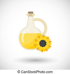 Sunflower oil vector flat icon