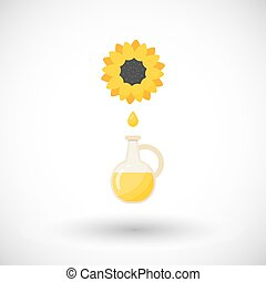 Sunflower oil vector flat icon