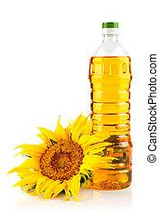 sunflower oil with flower