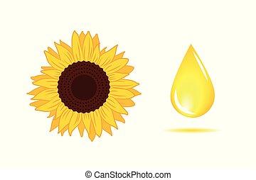 Sunflower oil yellow drop