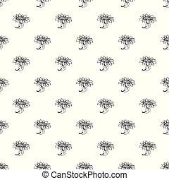 Sunflower pattern seamless
