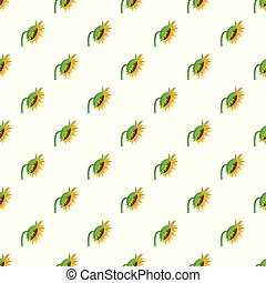 Sunflower pattern seamless vector