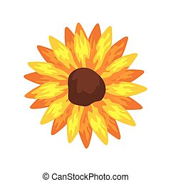 sunflower plant icon on white background