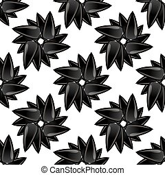 Sunflower Ripe Black Seed Seamless Pattern
