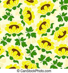 sunflower seamless pattern