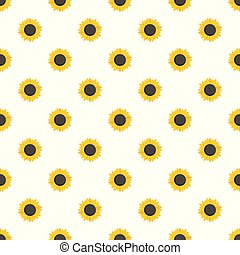 Sunflower seed pattern seamless vector