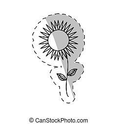 sunflower spring cut line vector illustraiton eps 10