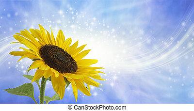 Sunflower Surprise Sparkling Message Background