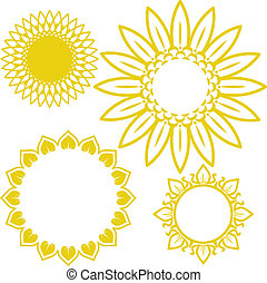 Clip art collection of sunflower themed designs