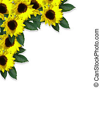 Sunflowers corner Design - Illustration and image...