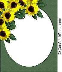 Sunflowers corner Invitation Canvas
