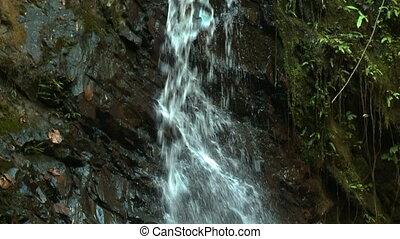 Sungai Ruok Waterfall, Belum Rainforest, Malaysia - Close-up...