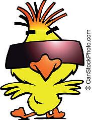 sunglass, kuře, tanečník, chlad