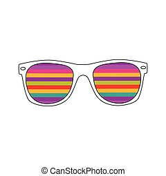 Sunglasses Abstract Vector Illustration Background