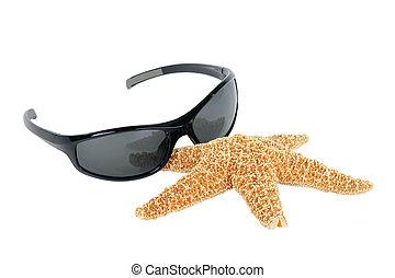 Sunglasses and starfish