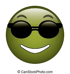 sunglasses and thumb emoticon style icon