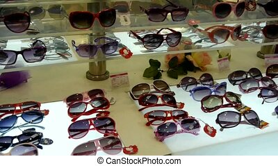 sunglasses at the mall.