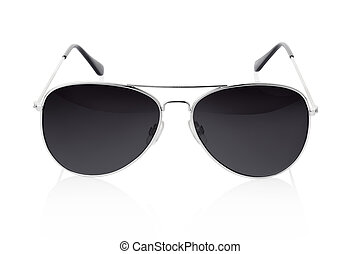 Sunglasses - Aviator sunglasses isolated on white, clipping...