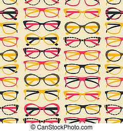 Sunglasses Background - Seamless pattern with colorful...