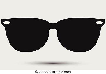 Sunglasses black Icon on white background. vector illustration