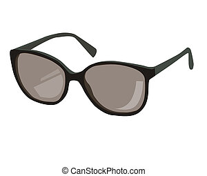 black sun glasses with no background