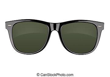 Sunglasses - Black sunglasses isolated on white background. ...