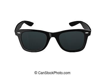 Sunglasses - Black sunglasses or shades, with plastic rims ...