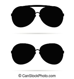 sunglasses black vector illustration