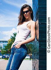 sunglasses city girl