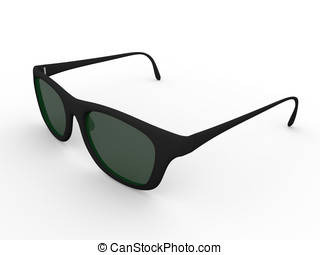Sunglasses - Illustration of black sunglasses. Eye...