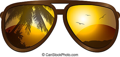 Sunglasses - Vector picture with sunglasses